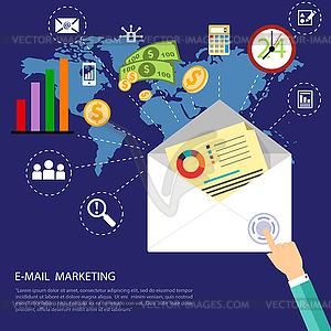 E-Mail-Marketing-Konzept - Royalty-Free Clipart