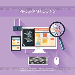 Programmierkonzept - Vektorgrafik-Design