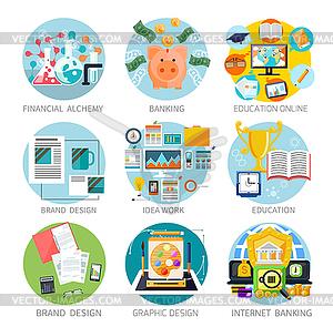 Finanz Alchemie, Bildung, Grafik-Design- - vektorisiertes Clipart