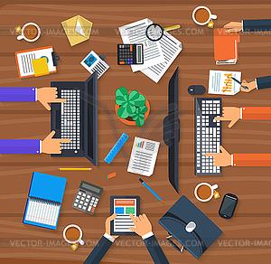 Arbeitsprozess von Business-Team-Konzept - Stock-Clipart