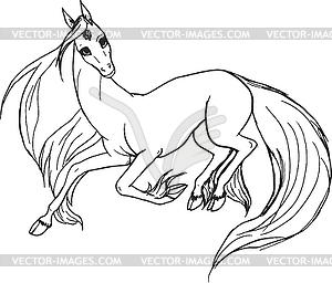 Einhorn - Pferd - Stock-Clipart