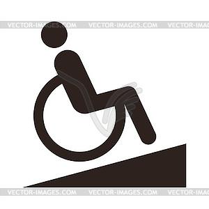 Untaugliches Zeichen - Behindertengerechte - Klipart