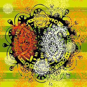 Ethnischen dekorativen nahtlose Muster - Vektor-Clipart EPS