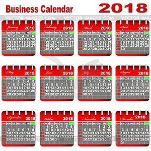 Бизнес Календарь 2016 - векторная иллюстрация.