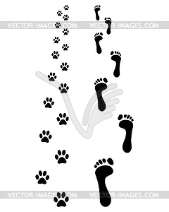Fußabdrücke - Royalty-Free Clipart