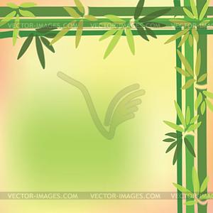 Verschwommen Bambusstämmen und fährt um auf bunten - Royalty-Free Vektor-Clipart