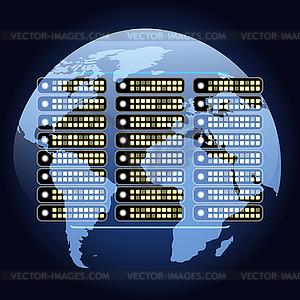 Globales Netz Kommunikation - Stock-Clipart