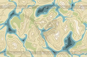 Nahtlose Karte Muster - Vector-Design