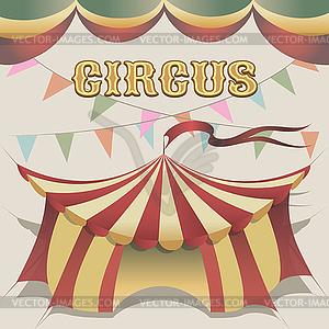 Zirkuszelt - Vektor-Clipart / Vektor-Bild