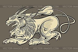 Mittelalterlich monster - Stock-Clipart