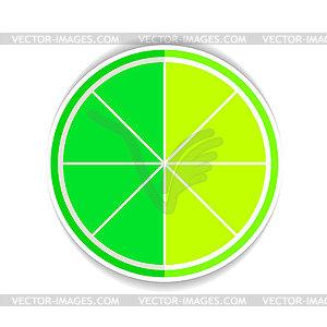 Kalk Obst gelben reifen Flach Icon - Vector-Clipart / Vektor-Bild