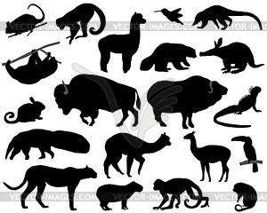 Tiere von Nord-und Südamerika - Vector Clip Art