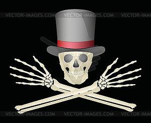 Jolly Roger - vektorisierte Abbildung