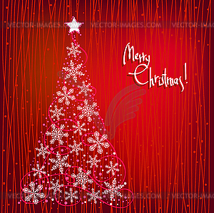 Hintergrund Weihnachten mit Baum - Vector-Bild