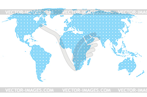 Blaue Karte - Vektor-Klipart