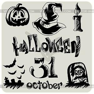 Halloween - Stock Vektorgrafik
