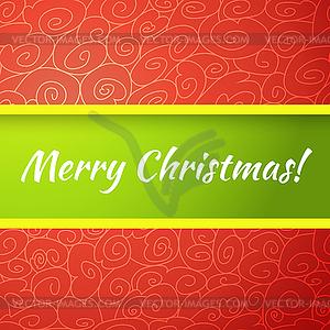 Ausgezeichnete helle Weihnachtskarte - Vektor-Illustration