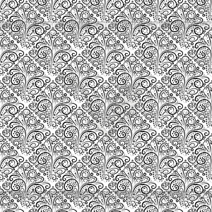 Abstract seamless floral Monochrom-Muster curl - vektorisiertes Design