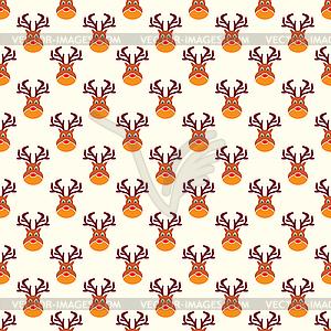 Abstrakt Weihnachten Hirsch Mustertapete - Vektorgrafik