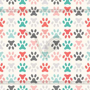 Tier nahtlose Muster der Pfote Fußabdruck - Stock Vektor-Bild