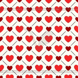 Nahtlose geometrische Muster mit Herzen - Vector-Illustration