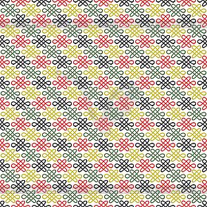 Floral nahtlose Muster chinesischen - farbige Vektorgrafik