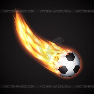 Fußball-Ball - vektorisierte Abbildung