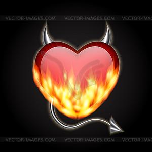 Dämonische Herz - Vektor-Clipart EPS