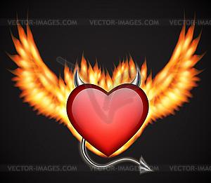 Dämonische Herz - Vector Clip Art