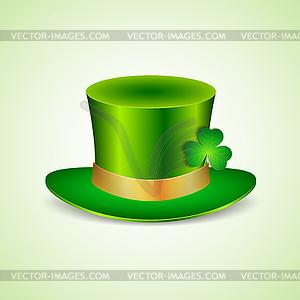 Hintergrund mit grünen Hut und Gold - Vector-Bild