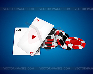 Asse und Chips - Vektor-Clipart / Vektor-Bild