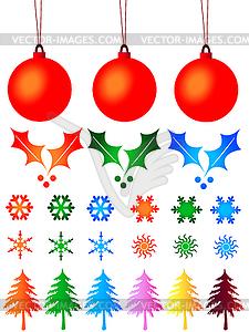 Set über Weihnachten Gedanken Weihnachten Design - vektorisiertes Clipart