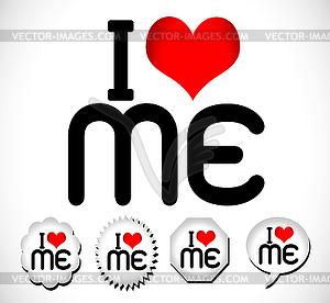I love me Ich liebe mein Leben - Stock Vektorgrafik