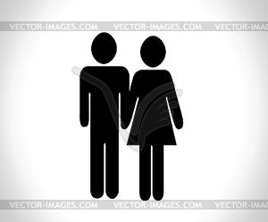 Piktogramme Leute Mann Icon Anmelden Symbol Piktogramm - Vektor-Illustration