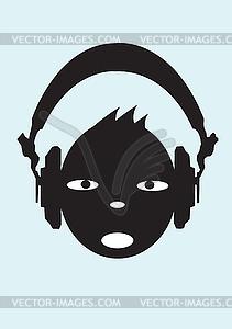 Gesicht Menschen Skizze Crowd von lustigen Menschen - Vektor-Illustration