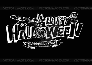 Happy Halloween-Thema und Halloween-Hintergrund - Vektor-Clipart / Vektor-Bild