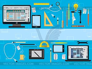 Web-Design-Konzept - vektorisiertes Clip-Art