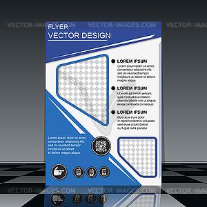Geschäftsfliegerschablone - Vector-Clipart / Vektor-Bild