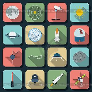 Astronomie-Ikonen-Sammlung - Vector-Design