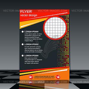 Geschäftsfliegerschablone - farbige Vektorgrafik