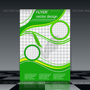 Eco Flyer Vorlage - Vector-Clipart EPS