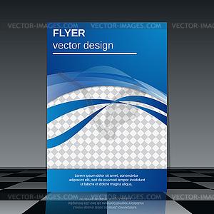 Geschäftsfliegerschablone - Vector-Clipart EPS