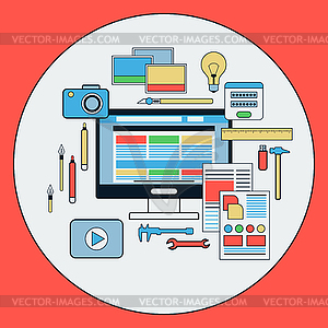 Web-Design-Konzept - Vektor-Clipart EPS