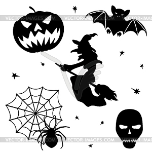 Halloween Silhouette Set - vektorisiertes Bild