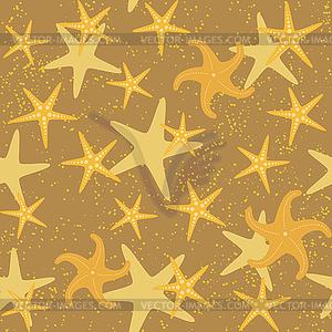 Seesterne nahtlose Muster - Vector-Clipart / Vektorgrafik