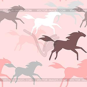 Laufende Pferde nahtlose Muster - Vector-Bild