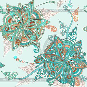 Blumenmuster im östlichen Stil - Vektor-Clipart / Vektorgrafik