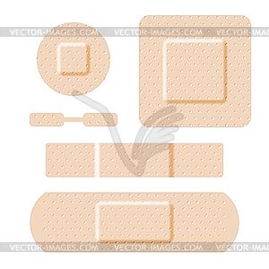 Pflaster Set - Vector-Clipart EPS