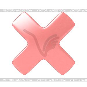 Rotes Kreuz Zeichen stornieren - Vector-Design