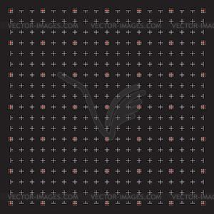 Grid für moderne virtuelle Technologie fantastisch - farbige Vektorgrafik